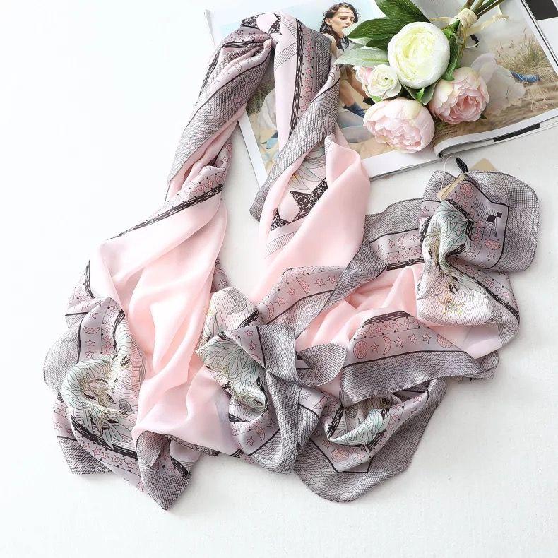 数码印丝巾