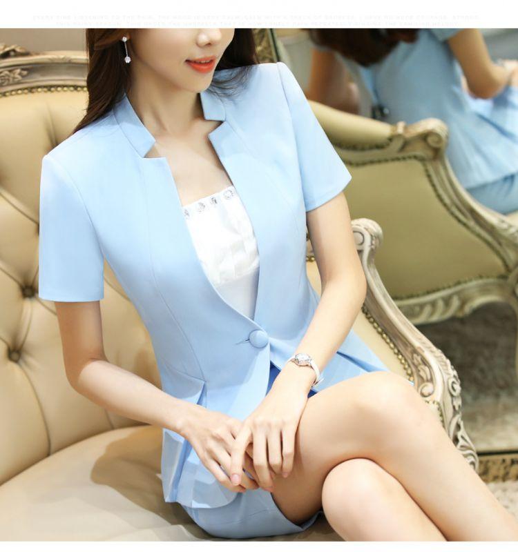 夏季职业女装短袖小西服东莞工作服多色可选
