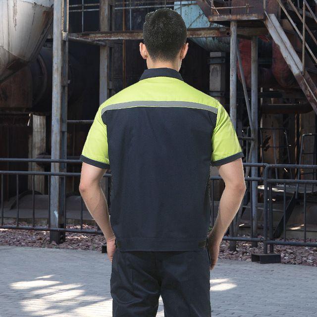 4S维修厂技术东莞工装 驾校教练员衣服 短袖汽车美容中心水电东莞工服 夏装