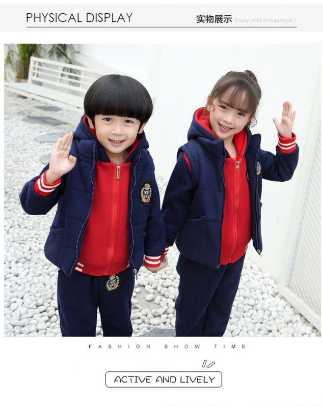 秋季幼儿园园服 春秋套装秋冬小学生校服 三件套儿童运动班服学院风