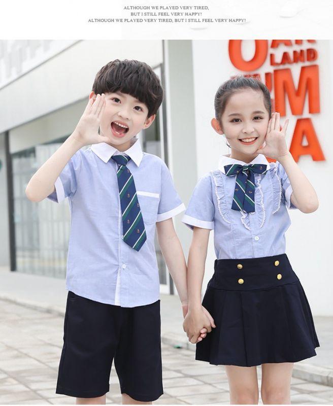 夏季新款小学生校服 纯棉英伦风幼儿园园服 夏装儿童班服学院风套装