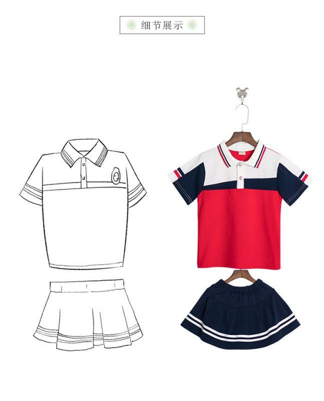 夏季新款幼儿园园服纯棉夏装 小学生校服英伦风套装 儿童班服运动服