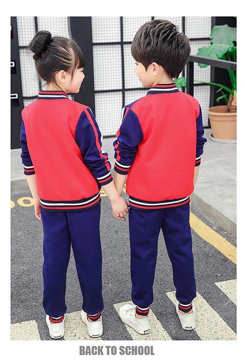秋季新款幼儿园园服 小学生班服运动服纯棉套装 中学生学院风校服