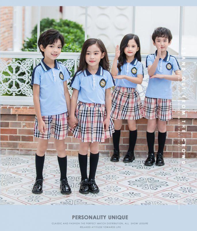 2019夏季幼儿园园服夏装 儿童班服英伦风小学生校服 纯棉套装学院风