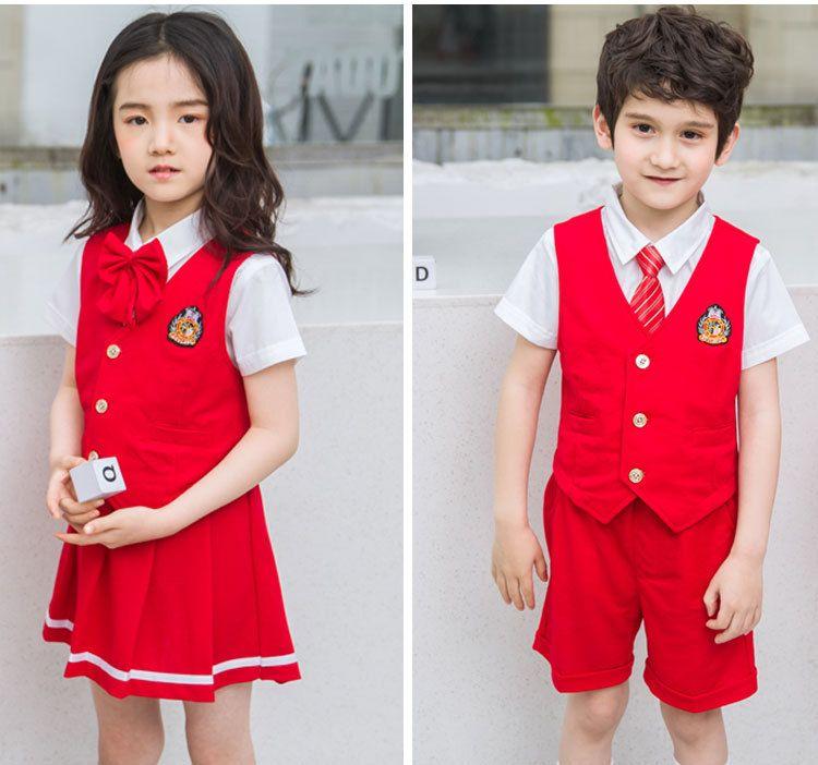 夏季新款幼儿园园服纯棉夏装 小学生校服英伦风三件套 男女儿童班服