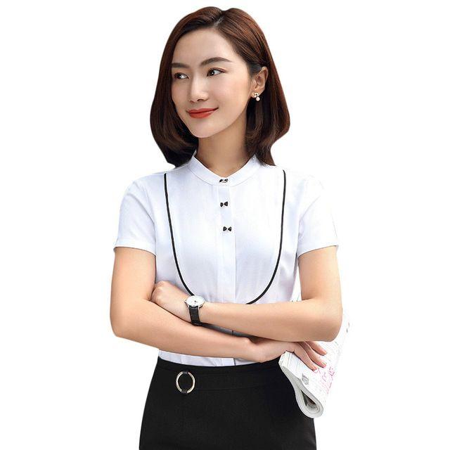 职业装白衬衫 女韩版 显瘦修身OL正装工装工作服女士上衣白领面试装