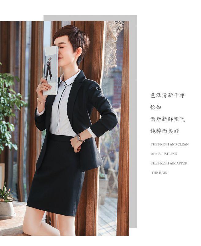 厂家订做职业女套装新款时尚商务女士气质修身面试西服银行工装工作服