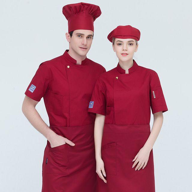 火锅店厨师工作服 短袖夏季酒店西餐饭店烘焙厨房后厨厨师服男透气