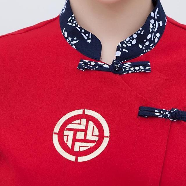 服务员工作服夏装 酒店餐饮农家乐火锅店东北菜馆服务员短袖制服女