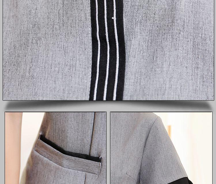 夏装制服工 前台透气中式餐厅酒店宾馆 男女PA工作服春夏季保洁服