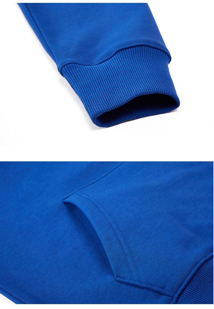 运动休闲时尚男女款纯色套头连帽长袖卫衣HL-2098